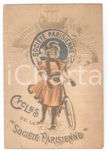 1910 ca FRANCE Cycles de la SOCIÉTÉ PARISIENNE - Carte avec guichet RARE