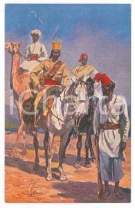 1910 ca ESERCITO ITALIANO Truppe coloniali - Ill. R. PAOLETTI Cartolina FP NV
