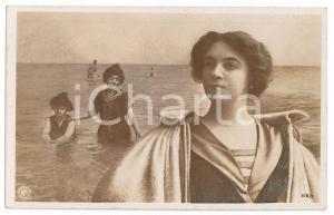 1908 BEAUTIES BATHING - Women - Oranotypie RARE postcard