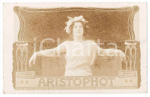 1900 ca ART NOUVEAU - ARISTOPHOD Company ltd - RARE RPPC advertising card