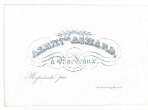 1910 ca BORDEAUX (FRANCE) Alexandre ACHARD - Billet gaufré