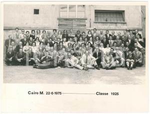1975 CAIRO MONTENOTTE Leva classe 1925 - Festa 50 anni - Foto gruppo 24x18