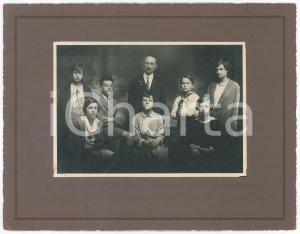 1927 IVREA Istituto - Foto di gruppo con professore - Fotografia 26x20 cm