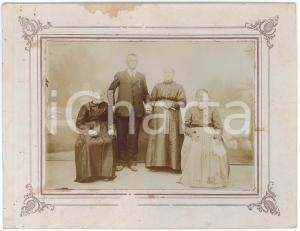 1920 ca ITALIA Ritratto di anziani coniugi - Foto di famiglia 24x19 cm