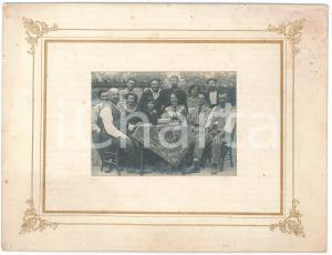 1920 ca ITALIA Pranzo di famiglia in cortile- Foto 24x19 cm