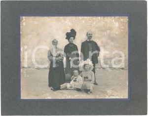 1920 ca ITALIA Famiglia nobile in villeggiatura - Foto 30x24 cm