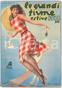 Giugno 1938 - LE GRANDI FIRME ESTIVE Illustrazione di Gino BOCCASILE Rivista