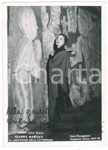1958 MILANO TEATRO ALLA SCALA Soprano Gianna MARITATI - Foto con AUTOGRAFO