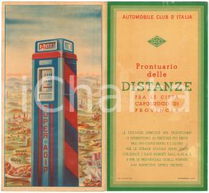 1950 ca ACI - Prontuario distanze fra le città capoluogo - ill. MANCIOLI - AGIP