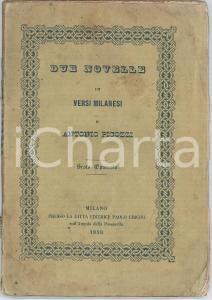 1858 MILANO Antonio PICOZZI Due novelle in versi milanesi - VI Opuscolo