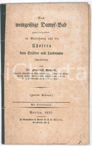 1831 Friedrich HEMPEL Das Dampf-Bad ganz besonders in Beziehung auf die Cholera