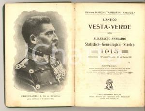 1915 L'antico VESTA-VERDE Almanacco-Annuario Genealogico-Storico 156 pp.