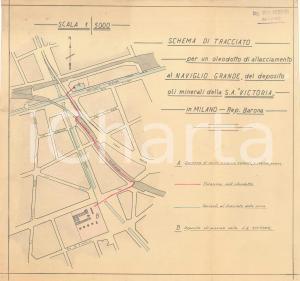 1971 OFFICINE GALILEO MILANO Schema per orologio - Materiale inox 21x30