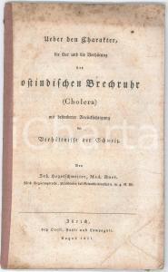 1831 Johannes HEGETSCHWEILER Ueber den Charakter der Brechruhr (Cholera)
