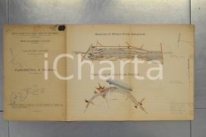 1904 STRADE FERRATE MEDITERRANEO Linea MILANO - VIGEVANO - Planimetria