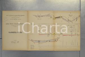 1904 STRADE FERRATE MEDITERRANEO Linea PAVIA CASALPUSTERLENGO Planimetria