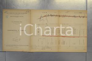1904 STRADE FERRATE MEDITERRANEO Linea ROGOREDO - PAVIA Planimetria INCOMPLETA