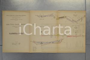 1904 STRADE FERRATE MEDITERRANEO Linea PAVIA - CASALPUSTERLENGO Planimetria