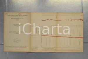 1904 STRADE FERRATE MEDITERRANEO Linea VOGHERA - PAVIA Planimetria e profilo