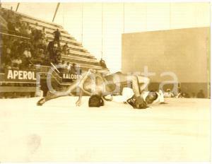 1954 MILANO PUGILATO Jorgen JOHANSEN al peso per incontro con Duilio Loi *Foto