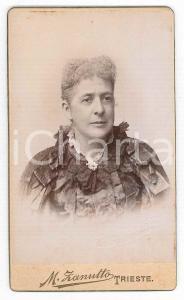 1880 ca. TRIESTE - Ritratto uomo in abito elegante - Foto ZANUTTO CDV