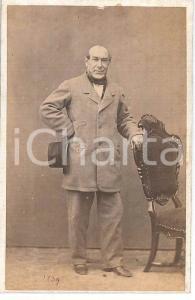 1880 ca. MILANO - Ritratto di uomo anziano in abito elegante - Foto GANZINI CDV