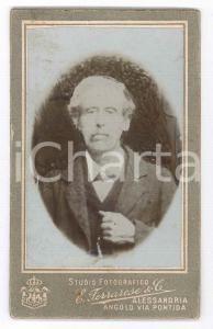 1880 ca. MILANO - Ritratto di anziano in abito elegante - Foto FERRARESE CDV