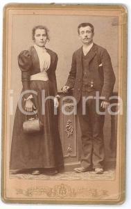 1890 ca. IVREA - Ritratto di giovane coppia *Foto MARIANI CDV