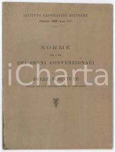 1930 ISTITUTO GEOGRAFICO MILITARE Norme per l'uso dei segni convenzionali