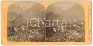 1880 ca SUISSE - INTERLAKEN Vue générale *Stereoview A. GABLER n° 1050