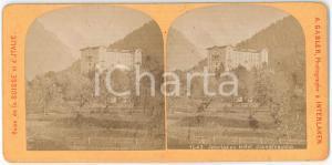 1880 ca SUISSE - INTERLAKEN Hotel JUNGFRAUBLICK *Stereoview A. GABLER n° 1050