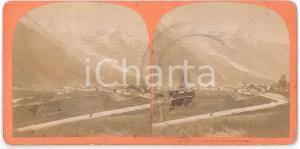 1880 ca FRANCE - CHAMONIX et le Mont Blanc *Stereoview n° 83