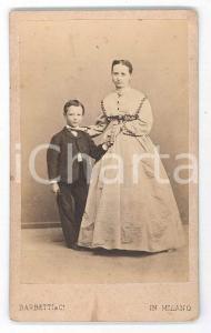 1870 ca. MILANO - Ritratto di madre con figlio - Foto BARBETTI CDV