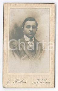 1880 ca. MILANO - Ritratto giovane uomo in vestito elegante - Foto BELLONI