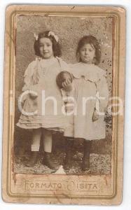 1870 ca. ITALIA - Ritratto di bambine con una palla *Foto NEGRI CDV (1)