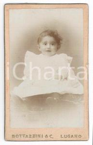 1870 ca. LUGANO - Ritratto di bambino in abito bianco *Foto BOTTAZZINI CDV