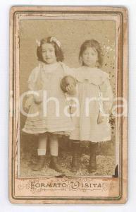 1870 ca. ITALIA - Ritratto di bambine con una palla *Foto NEGRI CDV (2)