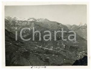 1920 ca. LIVIGNO - Paesaggio montano dall'alto - Foto 12x9