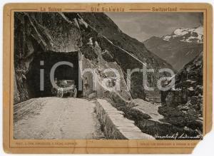 1910 ca SWITZERLAND Urnerloch - ANDERMATT - Foto ANIMATA carretto DANNEGGIATA