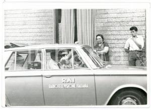 1963 CICLISMO GIRO D'ITALIA Auro BULBARELLI - AMADEO - QUAGLIA su auto RAI *Foto
