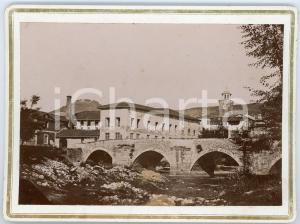 1900 ca DRONERO (CN) Veduta con ponte - Foto VINTAGE 19x14 cm