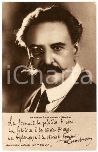 1920 ca Alberto LUMBROSO Storico - CARTOLINE PARLANTI Ed. FORMIGGINI FP NV