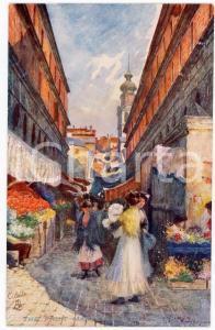 1920 ca VENICE - RIALTO Fruit market - Postcard series WIDE WIDE WORLD