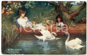 1920 ca Artist Herbert HORWITZ Sunny summer - By the riverside - Postcard FP NV