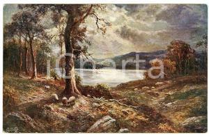 1920 ca UNITED KINGDOM Landscape - ILLUSTRATED Postcard serie SEA & LAKE n.3196