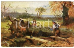1920 ca Artist Harry PAYNE A fallen monarch - Serie IN THE FOREST 9336 Postcard