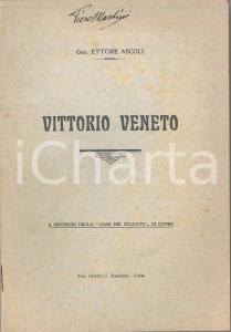 1924 Generale Ettore ASCOLI Vittorio Veneto - Pubblicazione