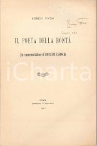 1912 Enrico FONDI Il poeta della bontà - In commemorazione di Giovanni PASCOLI