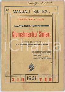 1931 Abo Alfredo BISCONTI Illustrazione del giornalmastro SINTEX - Manuale