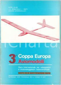 1973 RIETI 3^ Coppa Europa Aviomodelli AERO CLUB